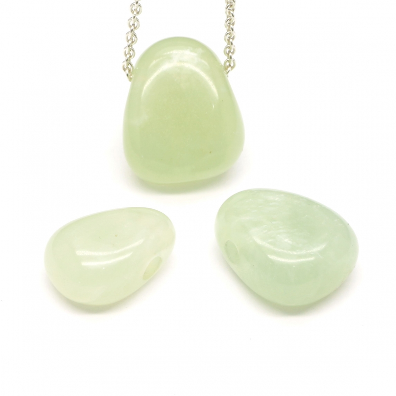China Jade Stone Pendant MINI 18x13mm