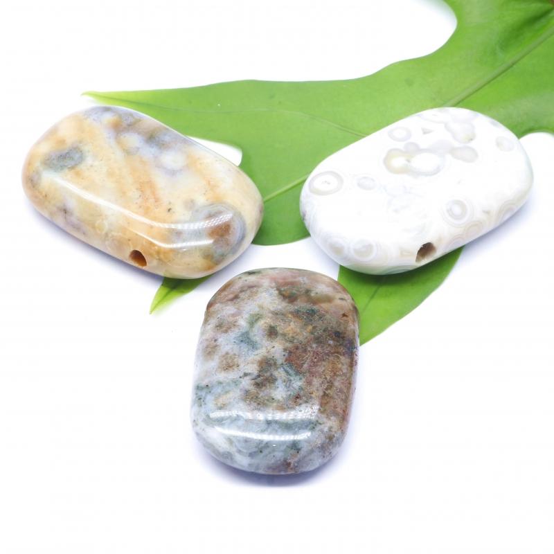 Jasper Ocean Stone Pendant 41X21mm