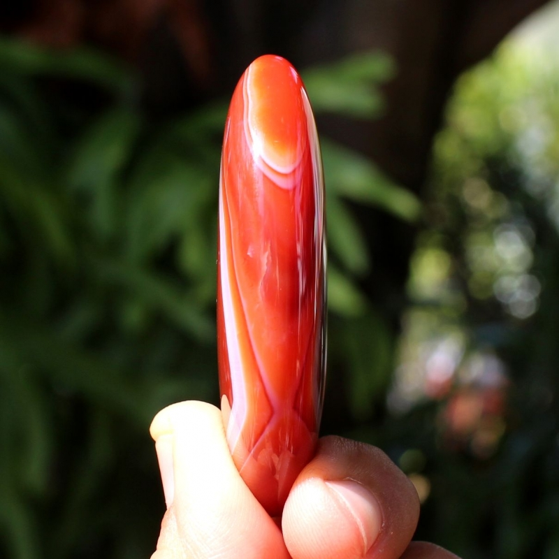Carnelian Achat Stone Soap Large 40 x 60 mm