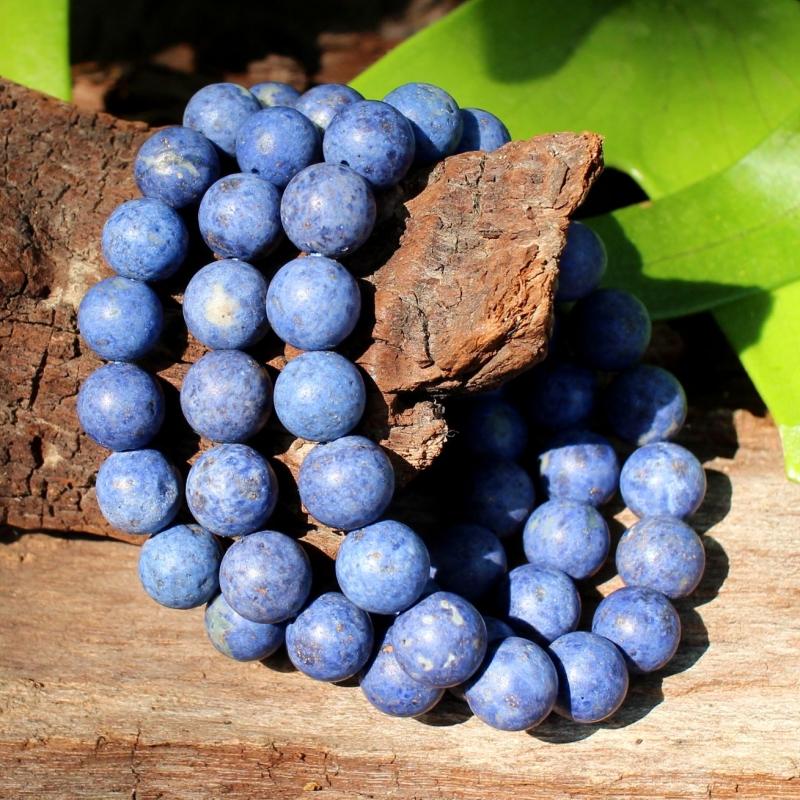 Dumortierit Bracelet Matt Beads 10mm