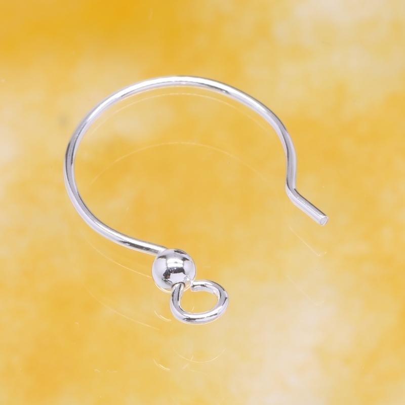 Ear Hook Circle Sterlingsilver 925 16mm Ø