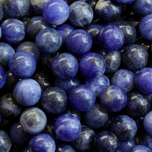 Sodalite Ball 12mm Sphere Blue
