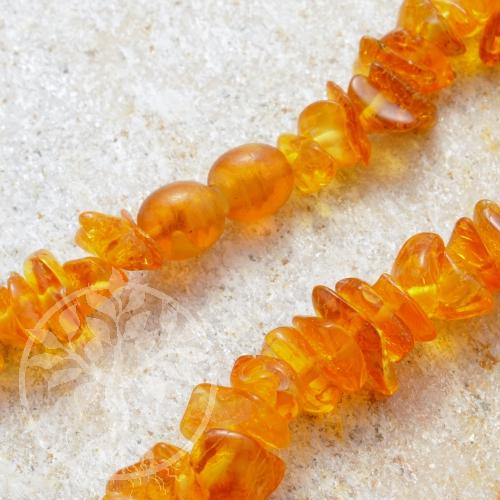 Amber necklace 45 cm cognac