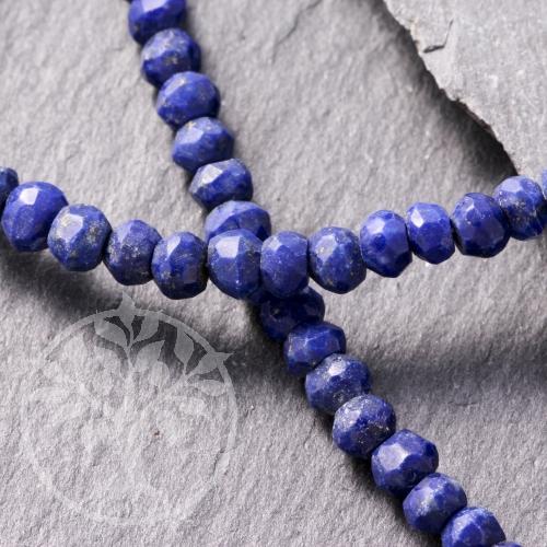 Lapislazuli Halskette 2,5mm Facettierte Perlen Feine Edelsteinperlen