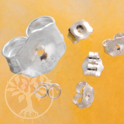 Ohrstecker Sicherung Hinterteil für Ohrringe 7x6mm sehr groß Silber 925