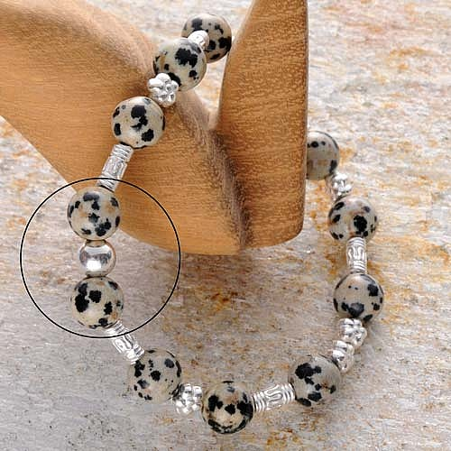 Silber Perle glänzend 6 mm Leicht Kaschierperle leichte Silberperle 925