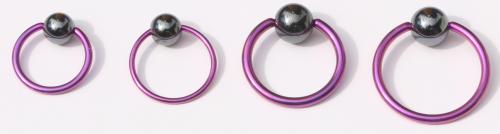 Ball Closure Ring Standard 1.2mm Piercing Ring pink
