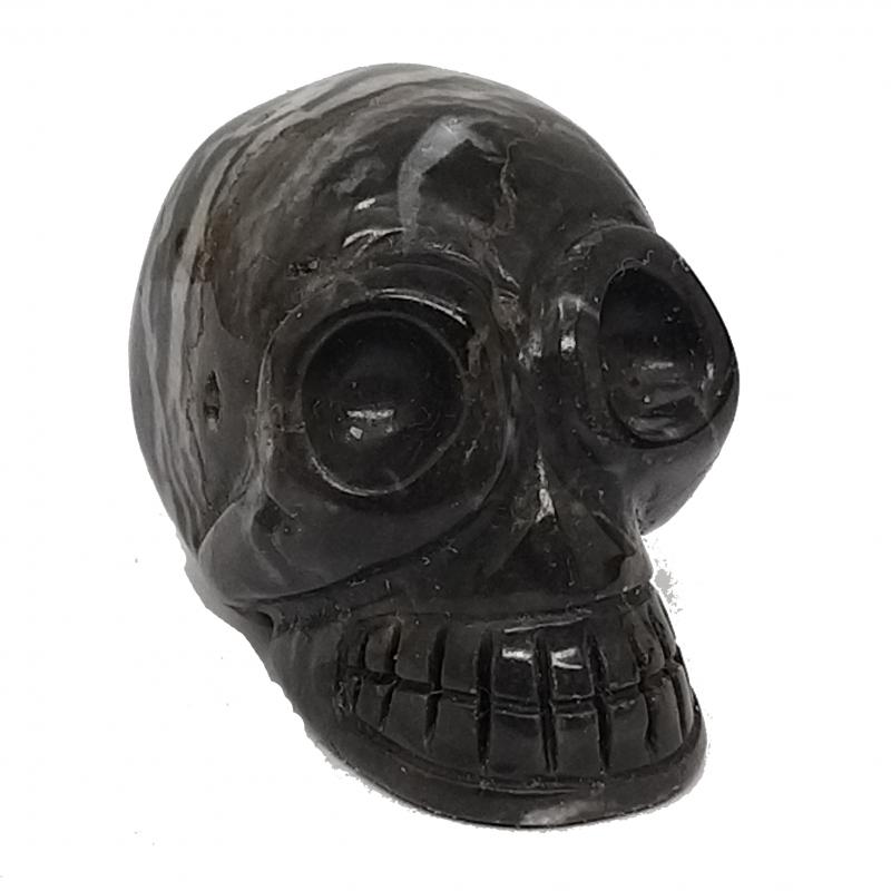 Onyx Schädel Skull aus echt Onyx Stein, ca. 35mm richtiger Onyx Steinschädel