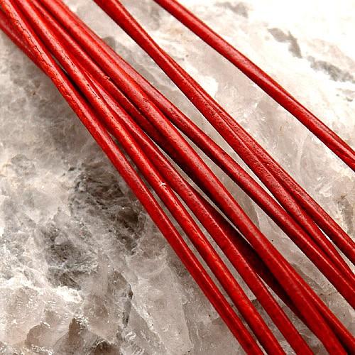 Lederband Ziege rund 1,5 mm in rot