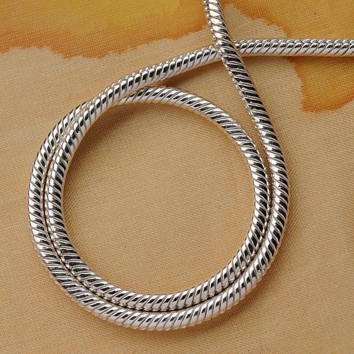 Schlangenkette 1,2x50cm Silber 925