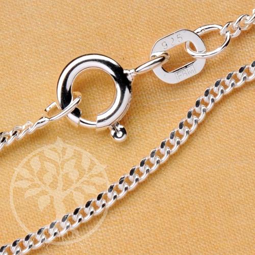 Curb Silver Chain 60 cm 1.4mm Sterlingsilver