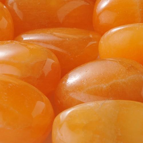 Orangen-Calcit Trommelsteine Grosshandel