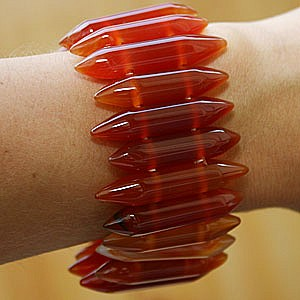 Carneol Armband Stiftform