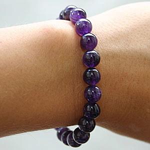 Amethyst Buddha-Beads Armband A+ Edelstein Power Bead natürlicher Amethyst