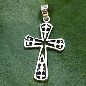 Silberkreuz Silber 925 Kreuz Anhänger kleiner Dolch