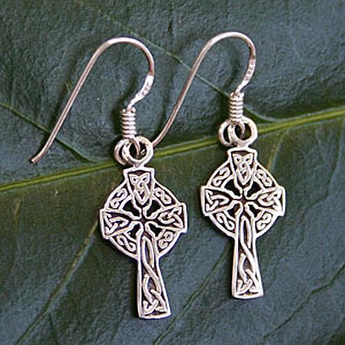 Silber Ohrring Keltisches Kreuz SIOH11 Silber 925