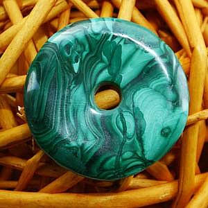 Malachit Donut Gross 39-42mm Edelsteine Scheibe mit Loch