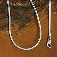 Schlangenkette Silberkette 38cm 1,2mm