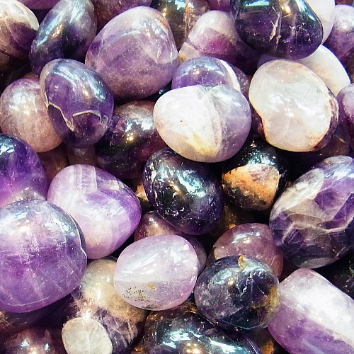 Amethyst Tumbled Stone 1 kg India AB