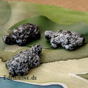 Schneeflocken-Obsidian Schildkröten-Anhänger