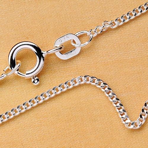 Curb Silver Chain 55 cm 1,6mm Silver 925