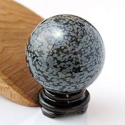 Schneeflocken-Obsidian Kugel 40mm