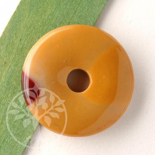 Mookait Donut 30mm Steinscheibe aus natürlichem Mookait