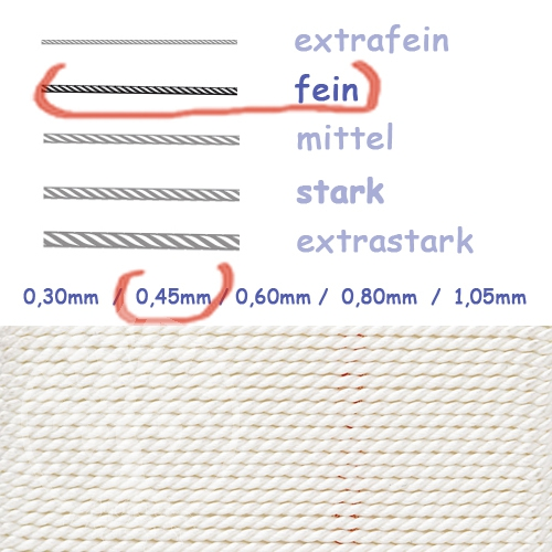 Natural Silk white 0,45mm