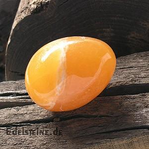Orangen-Calcit Stein Ei 45mm AA