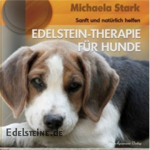 Book about therapy for dogs with healing-stones