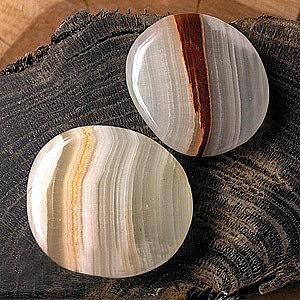 Onyx-Marmor Seifenstein Flacher Stein