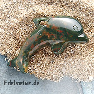 Moss Agate Dolphin Big