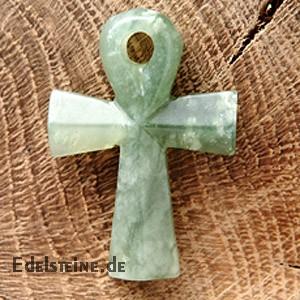 Ankh-Kreuz aus China-Jade (Serpentin)