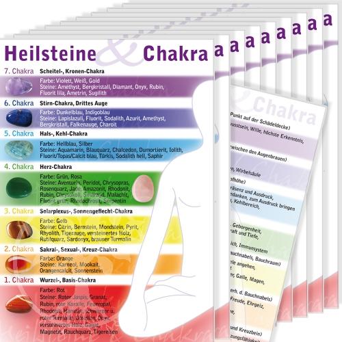 Chakra Edelsteinkarte gross 100 Stk