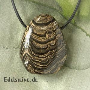 Stromatolith Stein-Anhänger 3 Stück