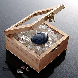 Setzkasten 1 Fach 8x8cm Holz Box mit Glasdeckel