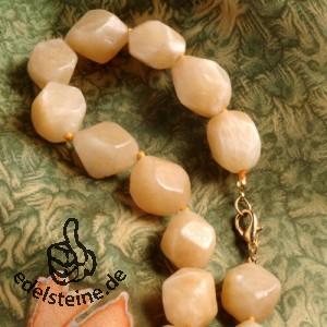 Orangen-Calcit Nuggets Halskette