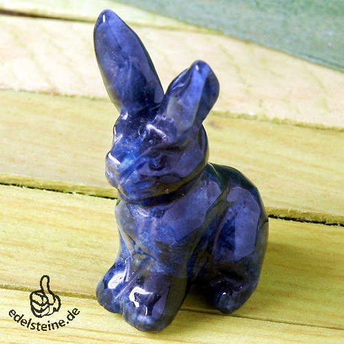 Rabbit Sodalite with long ears 3 pieces