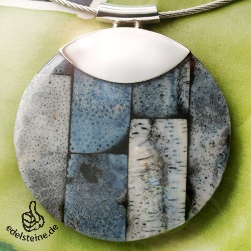 Koralle Anhänger Mosaik Blau 11
