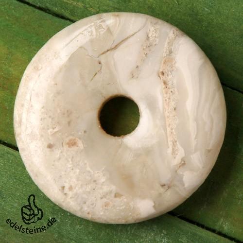 Dendriten-Opal Donut 30mm gelb
