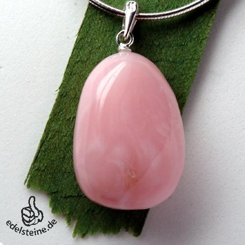 Pink Opal Anhänger mit Öse 925 Silber