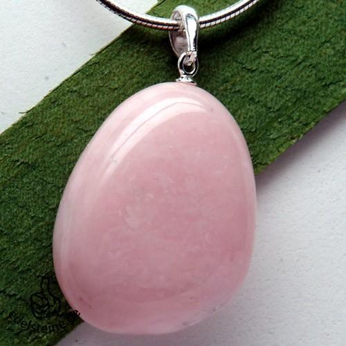 Pink Opal Anhänger mit Öse 3 Stück
