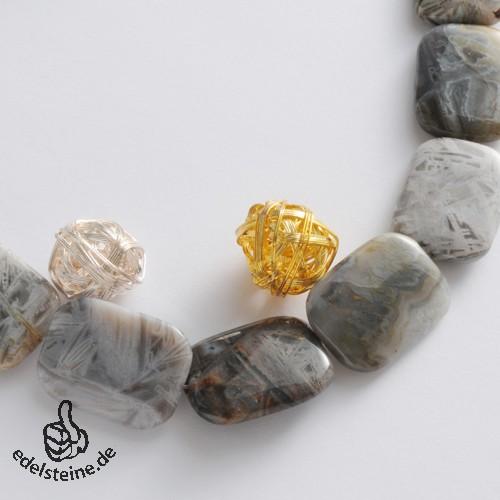 Gemstone-Beads, Achat, square