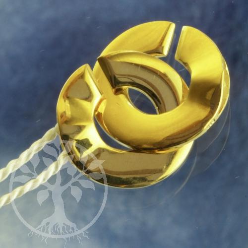 Ring-Ring Verschluss Silber 925 vergoldet 15mm glänzend