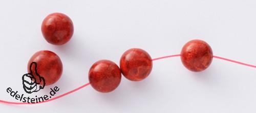 Elastikfaden, 0,80 mm, rot, 5m Armband Gummi hochelastisch.