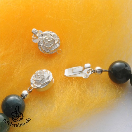 clasp, rose, 10 mm, silver 925