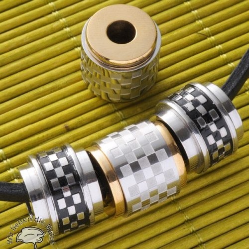 Edelstahl-Perle spinning gold