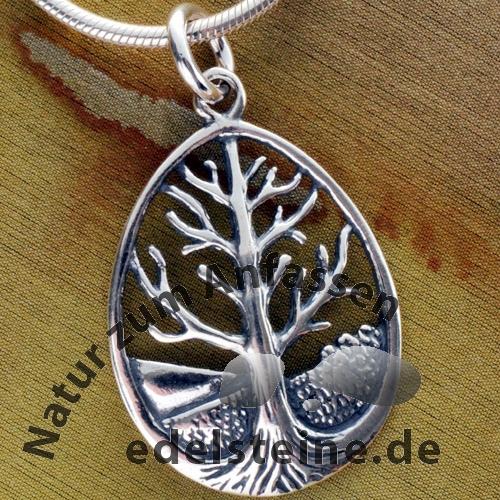 Baum des Lebens Silber Anhänger 925er Silber