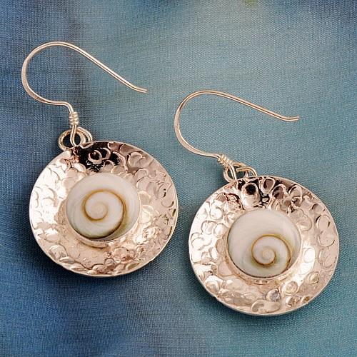 Shiva-Shell cap earrings SHCOR02
