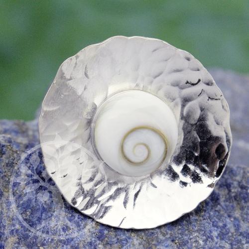 Shiva-Muschel Ring SHCRI2 Silber 925 Ring mit Shivamuschel 20mm